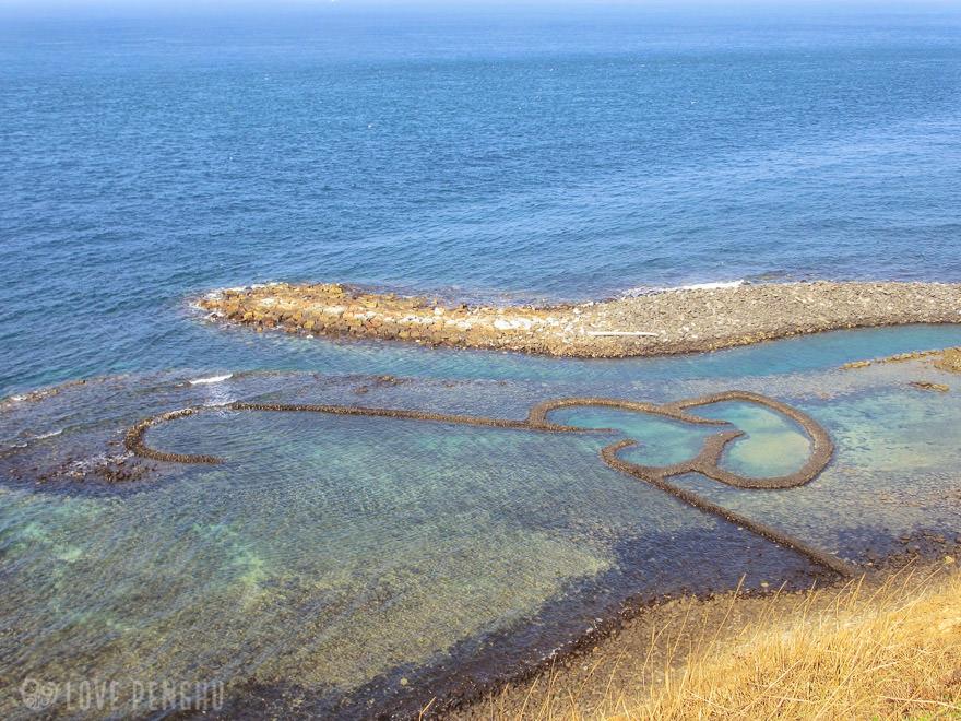 澎湖(ポンフー)の地名にあるダブルハート