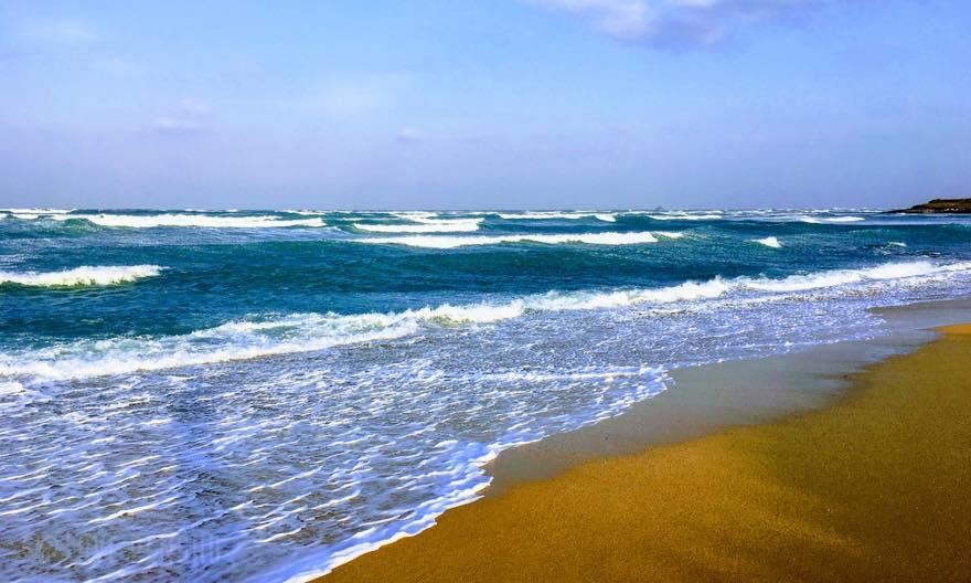 澎湖(ポンフー)の冬の龍門ビーチの風景